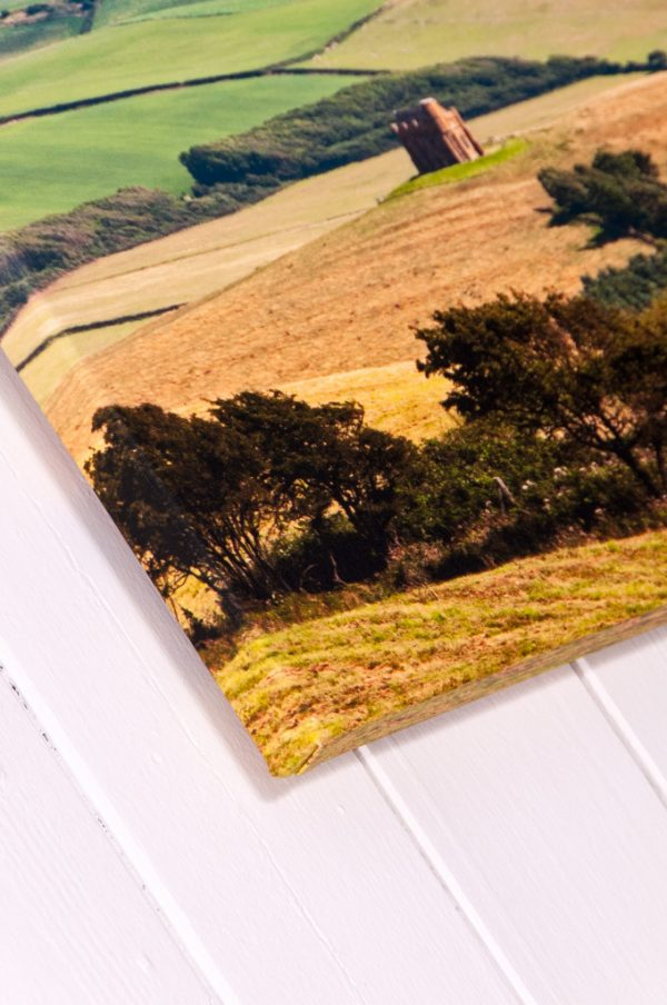 Narrow Wrapped Fine Art Stretched Canvas - Close Up